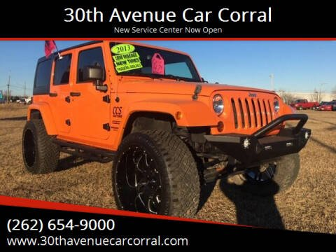 2013 Jeep Wrangler Unlimited for sale at 30th Avenue Car Corral in Kenosha WI