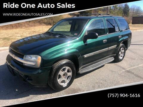 2004 Chevrolet TrailBlazer for sale at Ride One Auto Sales in Norfolk VA