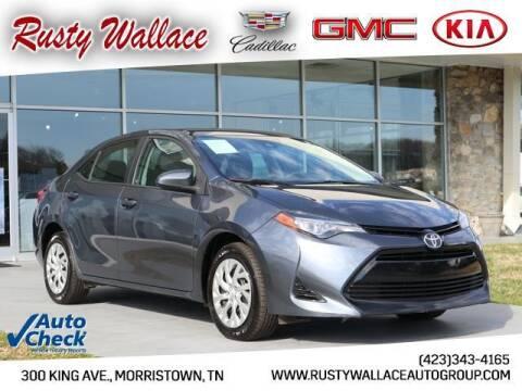 2017 Toyota Corolla for sale at RUSTY WALLACE CADILLAC GMC KIA in Morristown TN