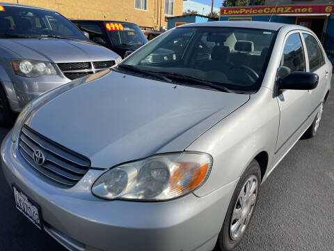 2003 Toyota Corolla for sale at CARZ in San Diego CA