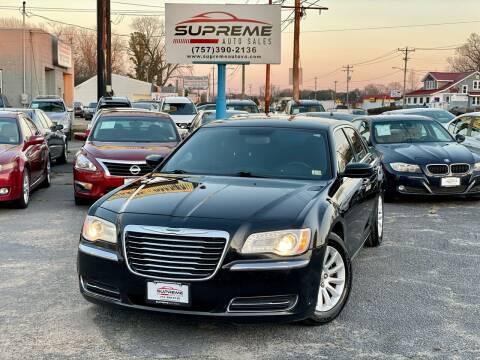 2012 Chrysler 300 for sale at Supreme Auto Sales in Chesapeake VA