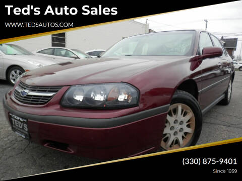 2002 Chevrolet Impala for sale at Ted's Auto Sales in Louisville OH
