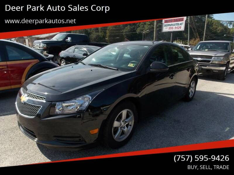 2013 Chevrolet Cruze for sale at Deer Park Auto Sales Corp in Newport News VA