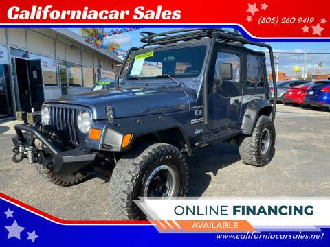 2002 Jeep Wrangler for sale at Californiacar Sales in Santa Maria CA