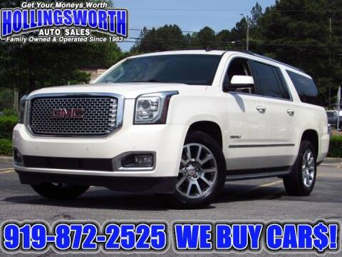 2015 GMC Yukon XL for sale at Hollingsworth Auto Sales in Raleigh NC