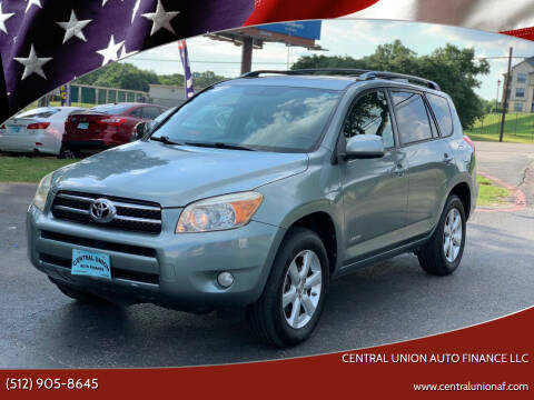 2008 Toyota RAV4 for sale at Central Union Auto Finance LLC in Austin TX