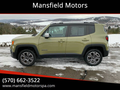 2015 Jeep Renegade for sale at Mansfield Motors in Mansfield PA