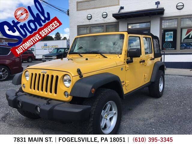 2015 Jeep Wrangler Unlimited for sale at Strohl Automotive Services in Fogelsville PA