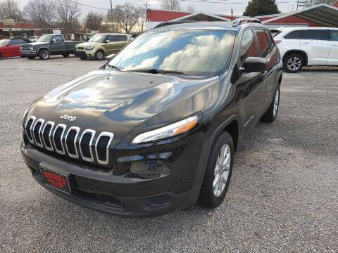 2017 Jeep Cherokee for sale at VAUGHN'S USED CARS in Guin AL