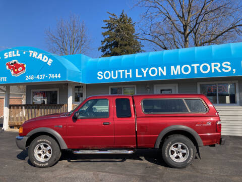 2003 Ford Ranger for sale at South Lyon Motors INC in South Lyon MI