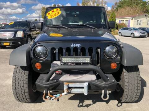 2010 Jeep Wrangler Unlimited for sale at Greenville Motor Company in Greenville NC