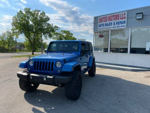 2016 Jeep Wrangler Unlimited for sale at United Motors LLC in Saint Francis WI