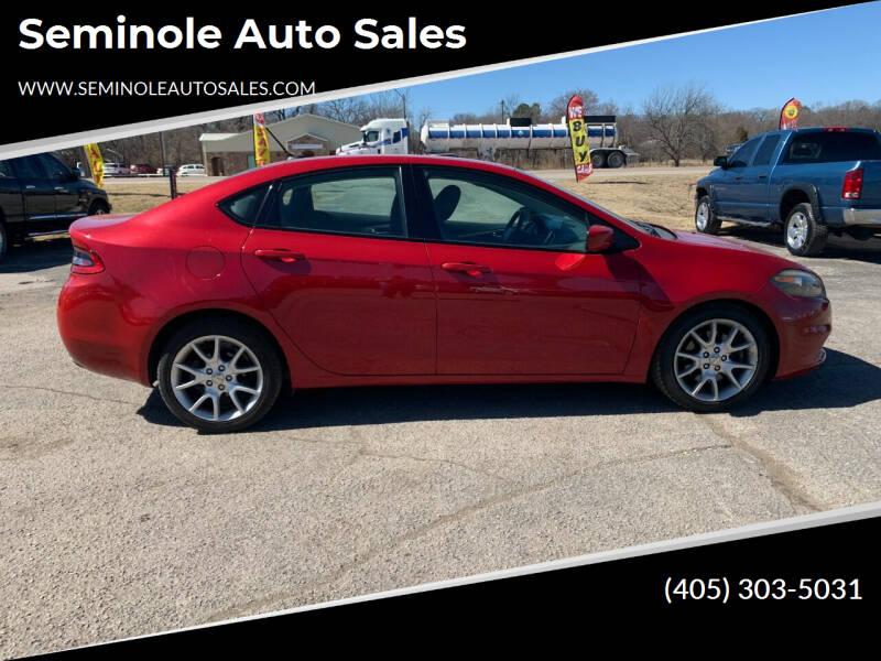 2013 Dodge Dart for sale at Seminole Auto Sales in Seminole OK