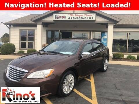 2012 Chrysler 200 for sale at Rino's Auto Sales in Celina OH