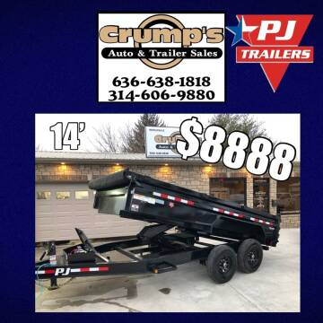 2021 PJ 14' Dump Trailer for sale at CRUMP'S AUTO & TRAILER SALES in Crystal City MO