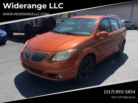 2005 Pontiac Vibe for sale at Widerange LLC in Greenwood IN