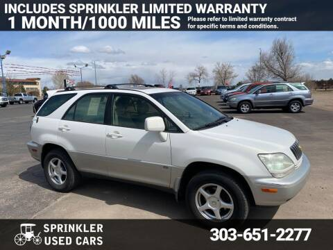 2002 Lexus RX 300 for sale at Sprinkler Used Cars in Longmont CO