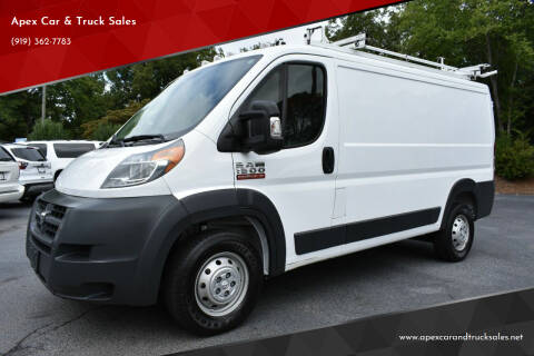 2018 RAM ProMaster Cargo for sale at Apex Car & Truck Sales in Apex NC