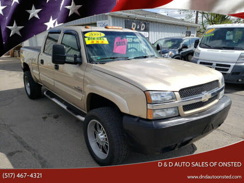 2004 Chevrolet Silverado 2500HD for sale at D & D Auto Sales Of Onsted in Onsted   Brooklyn MI