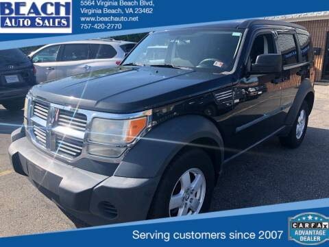 2008 Dodge Nitro for sale at Beach Auto Sales in Virginia Beach VA