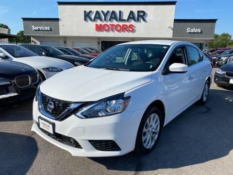 2019 Nissan Sentra for sale at KAYALAR MOTORS in Houston TX