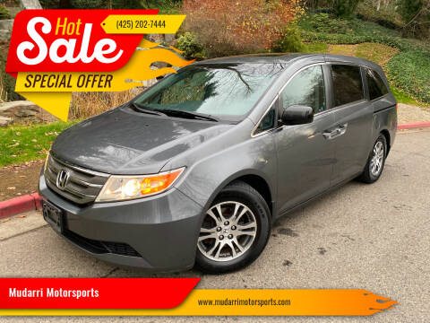 2012 Honda Odyssey for sale at Mudarri Motorsports in Kirkland WA