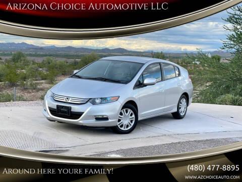 2010 Honda Insight for sale at Arizona Choice Automotive LLC in Mesa AZ