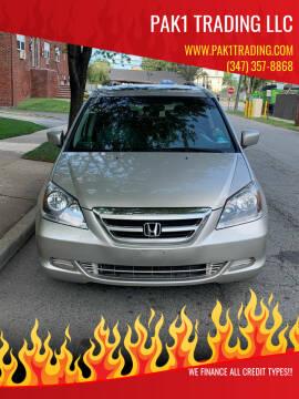 2007 Honda Odyssey for sale at Pak1 Trading LLC in South Hackensack NJ