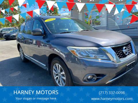 2014 Nissan Pathfinder for sale at HARNEY MOTORS in Gettysburg PA