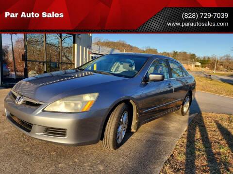 2007 Honda Accord for sale at Par Auto Sales in Lenoir NC