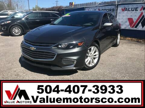 2016 Chevrolet Malibu for sale at Value Motors Company in Marrero LA