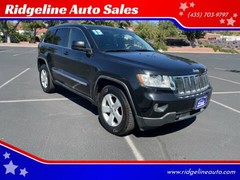 2013 Jeep Grand Cherokee for sale at Ridgeline Auto Sales in Saint George UT