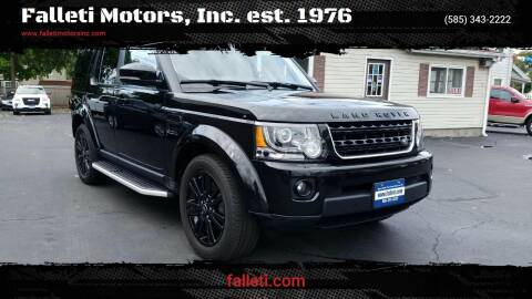 2015 Land Rover LR4 for sale at Falleti Motors, Inc.  est. 1976 in Batavia NY