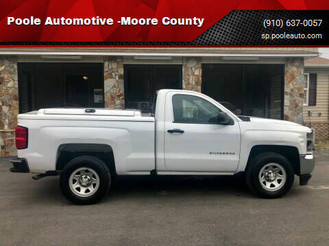 2016 Chevrolet Silverado 1500 for sale at Poole Automotive -Moore County in Aberdeen NC