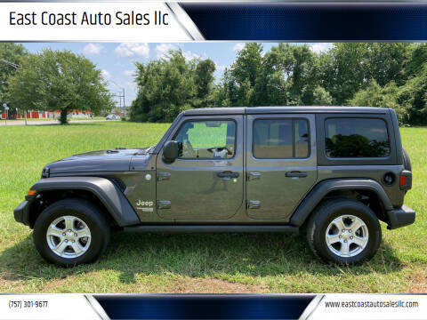 2019 Jeep Wrangler Unlimited for sale at East Coast Auto Sales llc in Virginia Beach VA