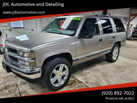 1999 Chevrolet Tahoe for sale at JDL Automotive and Detailing in Plymouth WI