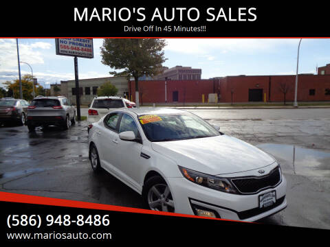 2015 Kia Optima for sale at MARIO'S AUTO SALES in Mount Clemens MI