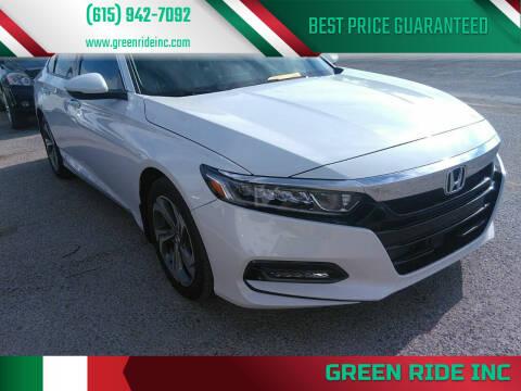 2018 Honda Accord for sale at Green Ride Inc in Nashville TN