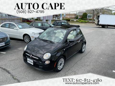 2012 FIAT 500c for sale at Auto Cape in Hyannis MA