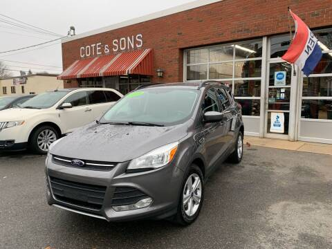 2014 Ford Escape for sale at Cote & Sons Automotive Ctr in Lawrence MA