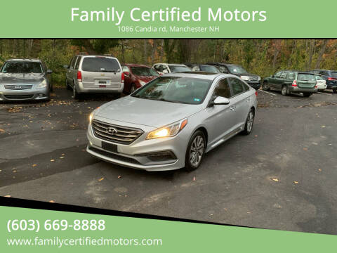 2017 Hyundai Sonata for sale at Family Certified Motors in Manchester NH