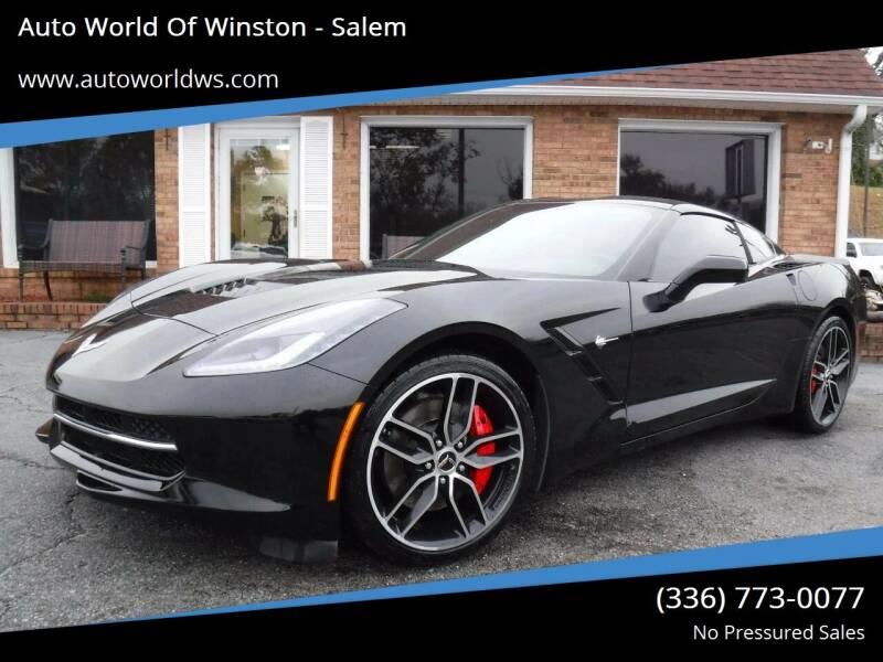 2015 Chevrolet Corvette for sale at Auto World Of Winston - Salem in Winston Salem NC