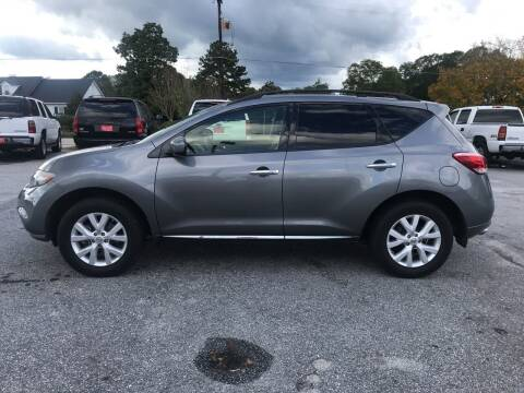 2013 Nissan Murano for sale at TAVERN MOTORS in Laurens SC