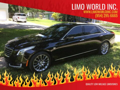 2016 Cadillac CT6 for sale at Limo World Inc. in Seminole FL