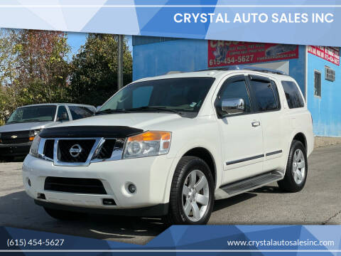 2012 Nissan Armada for sale at Crystal Auto Sales Inc in Nashville TN