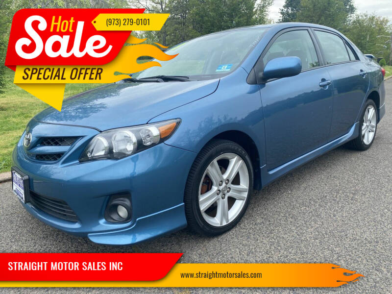 2013 Toyota Corolla for sale at STRAIGHT MOTOR SALES INC in Paterson NJ