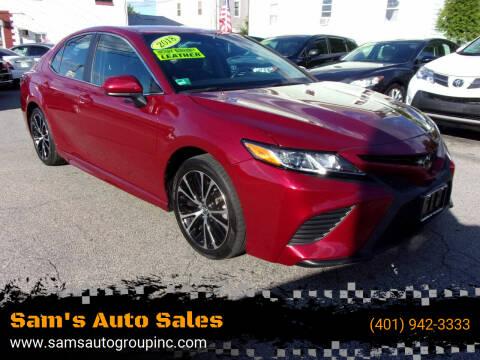 2018 Toyota Camry for sale at Sam's Auto Sales in Cranston RI