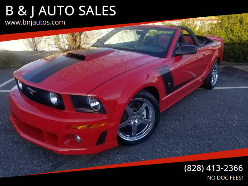 2008 Ford Mustang for sale at B & J AUTO SALES in Morganton NC