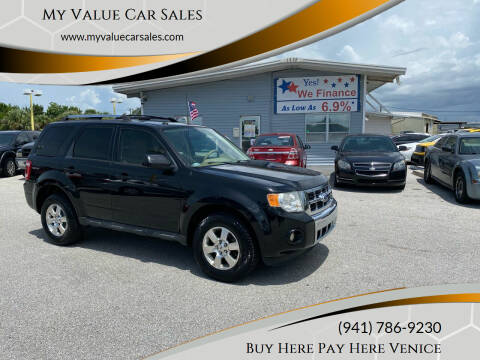 2011 Ford Escape for sale at My Value Car Sales - Upcoming Cars in Venice FL