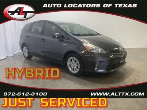 2013 Toyota Prius v for sale at AUTO LOCATORS OF TEXAS in Plano TX